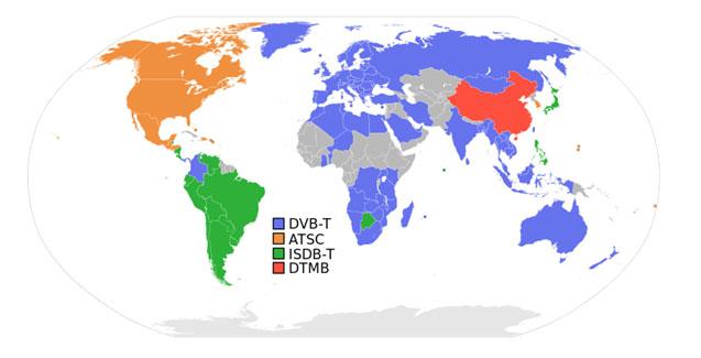 DVB-T-worldmap
